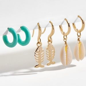 BaubleBar marine earring set